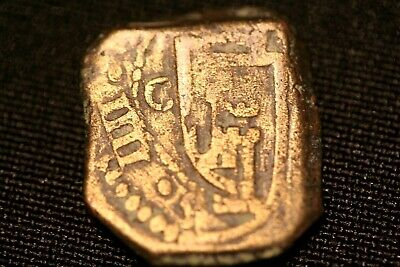 Spanish Copper Maravedis Cob Pirate Colonial Coin Money 1600's #17