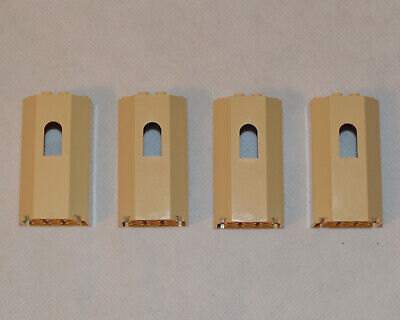 Lego Castle 4 Tan Panels 3 x 4 x 6 Turret Wall with Window 30246