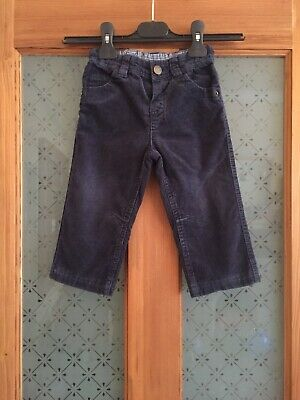 Lovely John Lewis navy blue babycord trousers, 12-18 months, excellent condition