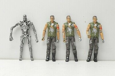 Terminator Salvation Endoskeleton + Marcus action figure lot Playmates 4 toys
