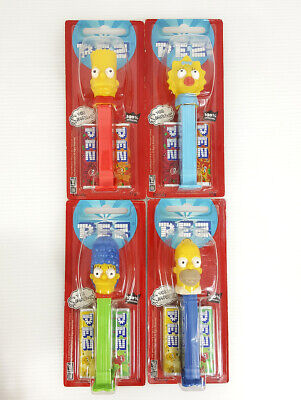 PEZ The Simpson Candy Dispenser pack of four characters Toys/Gift/Game/Brand New