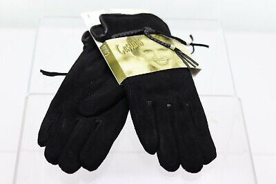 Grandoe Casuals Black LEATHER Gloves Women's Large New In Package