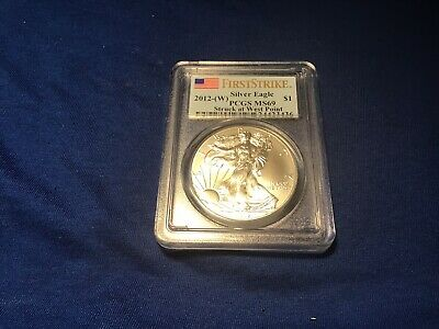 2012-W American Silver Eagle $1 First Strike Struck At West Point $1 Pcgs Ms 69