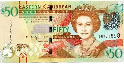 EAST CARIBBEAN STATES $50 Dollars 2016 P54b UNC Banknote
