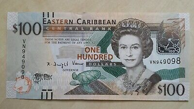 EAST CARIBBEAN STATES $100 Dollars 2012 P55a UNC Banknote
