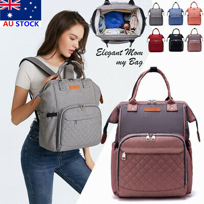 🔥New LEQUEEN Large Mummy Maternity Nappy Diaper Bag Baby Tote Travel Backpack