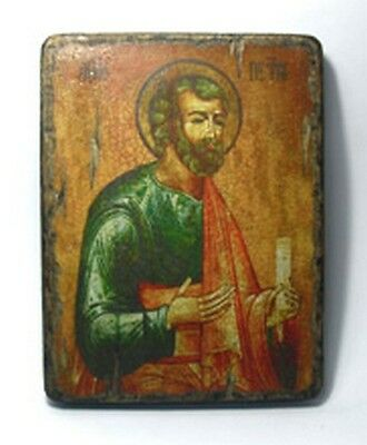 Handmade copy ancient ORTHODOX CHURCH ICON St Paul The Apostle 35S