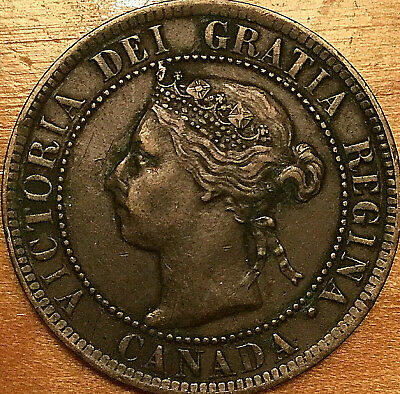 1895 CANADA LARGE 1 CENT PENNY LARGE 1 CENT COIN - Excellent example!