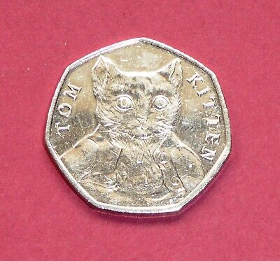 *BEATRIX POTTER* 50p COIN 2017 {Fifty Pence/Collectable/Rare/Tom Kitten} NR