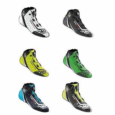 OMP FIA Approved One Evo R Kangaroo Leather Race / Rally Boots