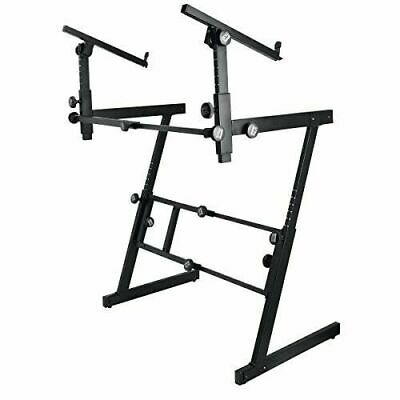 On Stage KS7365EJ Stands Pro Heavy-Duty Folding-Z Keyboard Stand with 2nd Tier