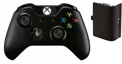 Microsoft Xbox One Wireless Controller 1537 Black Venom Rechargable battery NDD!