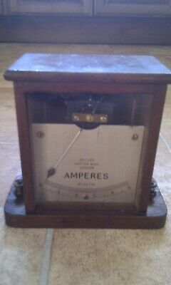 VINTAGE WOODEN AMMETER (Maker: Becker Hatton Wall)