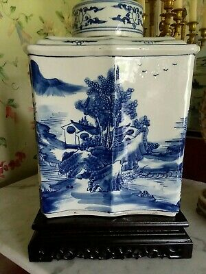 Chinese Rare porcelain X/large Tea Caddy