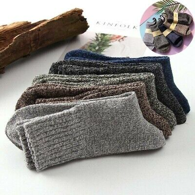 Socks Thick Casual Soft Winter Sports Men Solid Cashmere New Warm 5 Pairs Wool