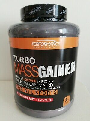 Turbo Mass Gainer 3kg  performance sports nutrition FRAISE