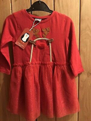 BNWT Girls Next Christmas Dress 9-12