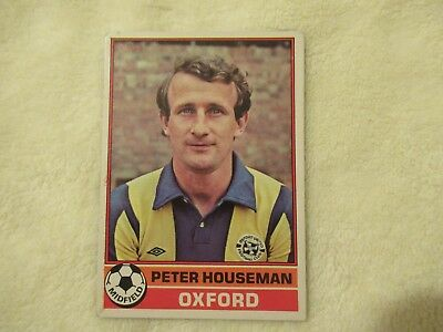 TOPPS-FOOTBALL RED BACK 1977 PETER HOUSEMAN -#177- OXFORD
