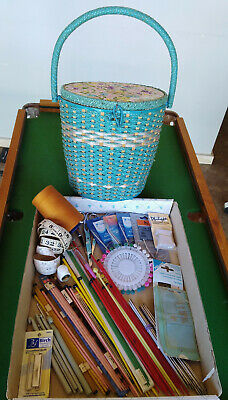 Vintage Woven Sewing Basket Collection
