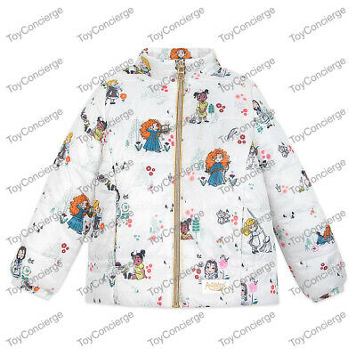 DISNEY Store ANIMATORS COLLECTION PUFFY JACKET for Girls PATTERN VARIES NWT