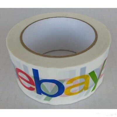 4-Colour eBay Branded Extra-Strong Parcel Packing Packaging Tape GENUINE ARTICLE