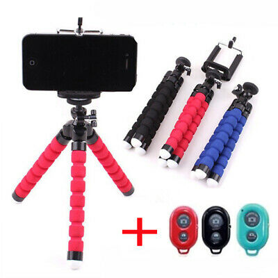 Cell Phone Holder Flexible Octopus Tripod Clip Wireless Selfie Stand Monopod New