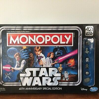 Star Wars Monopoly 40th Anniversary Special Edition Board Game Hasbro NEW