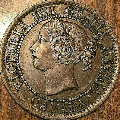 1859 CANADA LARGE CENT PENNY LARGE 1 CENT COIN - Fantastic example!