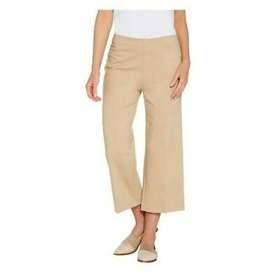 Kelly by Clinton Kelly Womens Regular Pull-On Ponte Culotte Pants Sz L A304703
