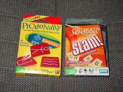 Parker Brothers & Mattel : Scrabble SLAM & PICTIONARY Card game  100% Complete