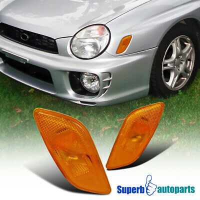 For 2002-2003 Subaru Impreza WRX RS Side Marker Turn Signal Lights