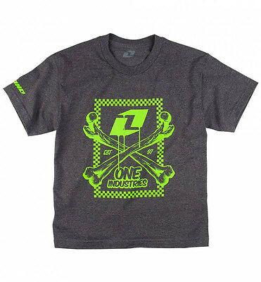 ONE INDUSTRIES KIDS YOUTH T-SHIRT MIKEY TEE JET BLACK boys motocross mx