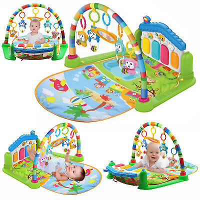 4 in1 Fitness Music Baby Play Mat Lay and Kids Gym Play-mat Fun Piano Boys Girls