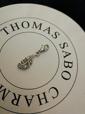 Thomas Sabo Sterling Silver Detailed Ostrich Feather Charm & Pink Gift Pouch
