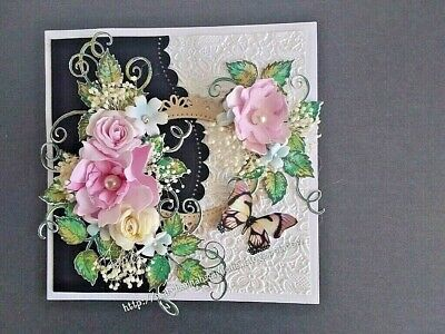 Hand Made Shabby Chic Card Topper.