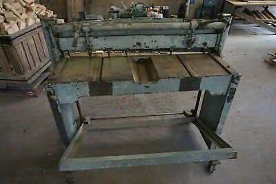 """42"""" Sheet Metal  Foot or Jump Shear on casters"""
