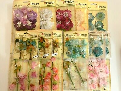 Petaloo Flower Embellishments Mixed Bundle X 15 Packs