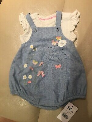 Mothercare Baby Girls Outfit Size 1-3 Months