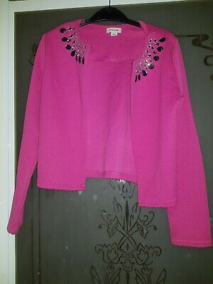 Girls RIVER ISLAND pink Jewel Cardigan Jacket Clothes age 9 years