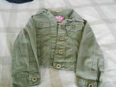 GIRLS GREEN COTTON FASHION JACKET AGE 5 by BLUE ZOO