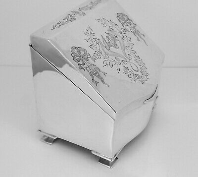 Stunning H. Mathews Sterling Silver Birm' 1913 Ring Jewellery Casket Trinket Box