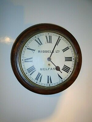 Riddles -Belfast Antique  Mahogany,Round Wall Clock-