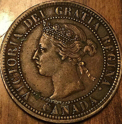 1888 CANADA LARGE CENT PENNY LARGE 1 CENT COIN - Excellent example!
