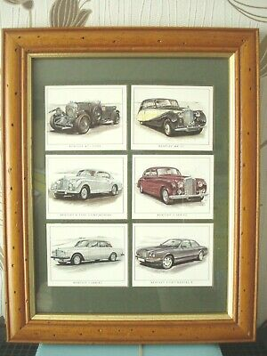 6  Collectors Cards, Relating To Bentley, In Double Glazed