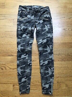 Tractr Jeans Skinny Gray Camouflage Ankle Zippers Girls Size 10