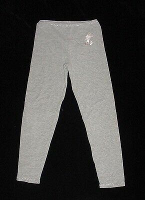 EEUC Disneyland Parks Girls Gray Embroidered MICKEY MOUSE Legging Size XS 4-5