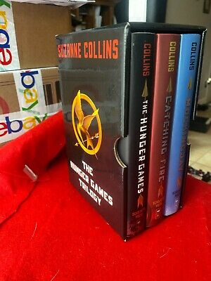 The HUNGER GAMES Trilogy Boxed Set HARDCOVER First Edition Books S. Collins BOX