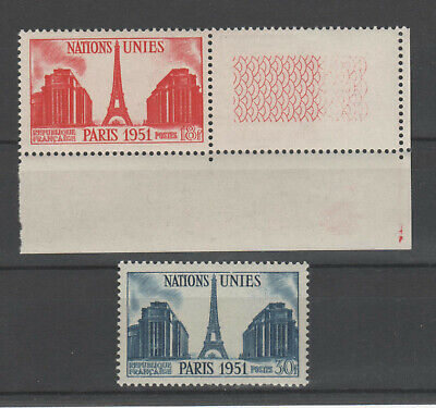 France - Timbres N° 911 912 - Neuf** -  Nations Unies - Cote : Mini 3,85 Euros