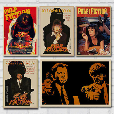 Pulp Fiction Classic Movie Vintage Poster Retro Canvas Wall Art Print Painting