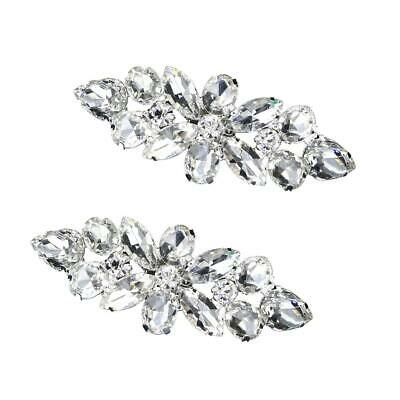 1 Pair Crystal Shoe Clip Wedding Women Shoes Rhinestone Buckle Decoration